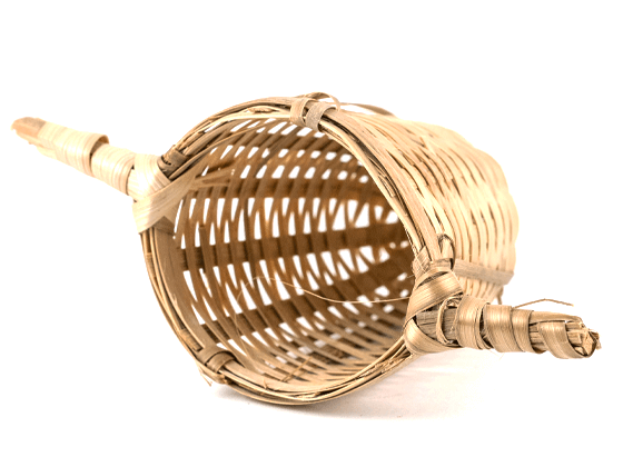 Zaparzacz bambusowy z 2 uchwytami